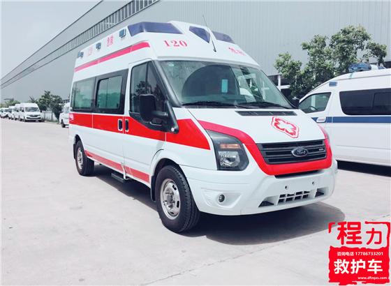 福特全顺新世代V348长轴救护车(钻石福星高顶)
