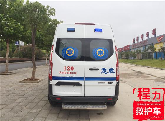 福特新全顺V362中轴中顶美式警灯(汽油版)救护车