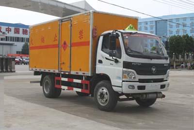 国五福田欧马可易燃气体厢式运输车