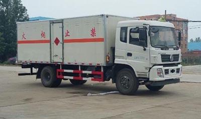 国五东风易燃气体厢式运输车