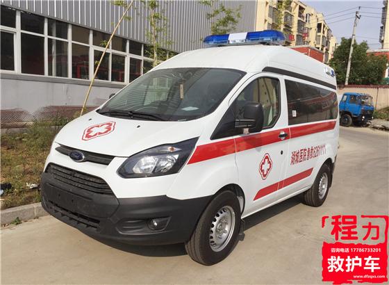 福特新全顺V362短轴中顶运输型救护车
