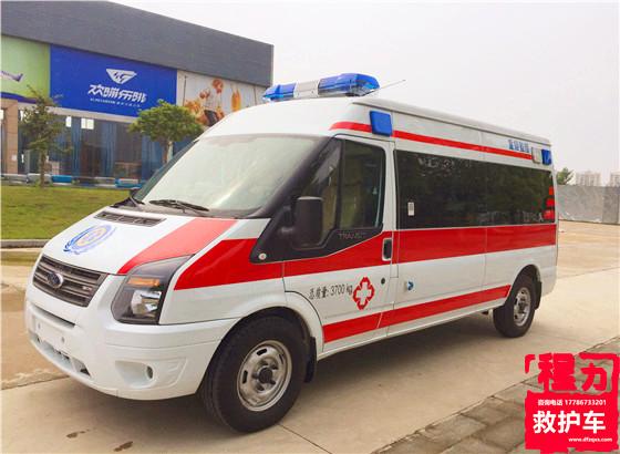 福特新世代V348长轴中顶救护车